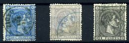 España Nº 164, 168/9. Año 1875 - Usados