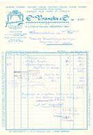 Factuur Facture - Rubans Chapeaux Ets Vranckx & Cie - Bruxelles - 1968 - Belgien