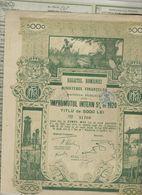 "ROMANIE * ROMANIA * REGATUL ROMANIEI 5000 LEI * ROUMENIE * ROEMENIE * 1920 * LITOGRAFIA  "" SAMITCA "" - Hist. Wertpapiere - Nonvaleurs"