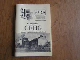 CEHG Revue N° 29 Gedinne Régionalisme Ardenne Wallon Semoy Semois Guerre 40 45 Croix Scaille Bière De Table Brasserie - Belgium