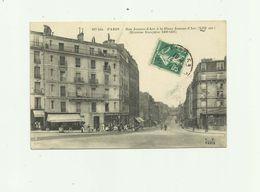 75 - PARIS - 13 Eme  Rue Jeanne D'arc Et La Place Jeanne D'arc Animé Commerces Bon état - Paris (13)