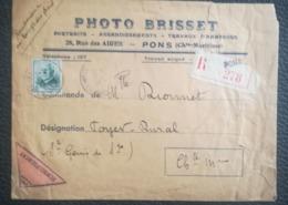 LETTRE 1942 - REMBOURSEMENT - PONS Pour ST GENIS DE SAINTONGE - 5 Fr Petain - Marcofilie (Brieven)