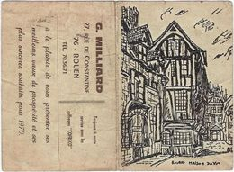 Calendrier  Petit Format 1970 G  Milliard  76rouen  27 Rue De Constantine - Calendriers