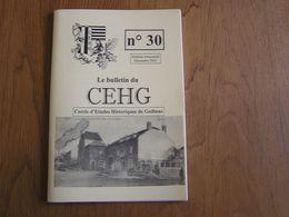 CEHG Revue N° 30 Gedinne Régionalisme Ardenne Wallon Semoy Semois Guerre 40 45 Chemin De Fer Spahis Graide Bourseigne - Belgium