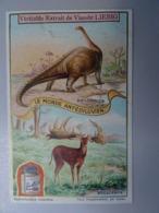 1 Chromo  Liebig  Série Belge San1123 Le Monde Antédiluvien: Image B Diplodocus Mégacéros - Liebig