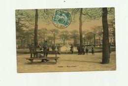 75 - PARIS - 13 Eme  Place D'italie Colorisé Animé Cliché Peu Courant Petit Pli Bas Droite Sinon Bon Voir Scan - Paris (13)