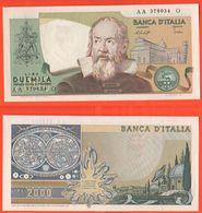 2000 2.000 Lire Galilei 22/10/1976 Firme Baffi Stevani - [ 2] 1946-… : République