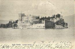 """8485 """" ISOLA GARDA-CASTELLO FERRARI """"-CARTOLINA POSTALE ORIGINALE SPEDITA 1905 - Brescia"""