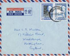 36853. Carta Aerea KUALA LUMPUR (Selangor) Malaya 1958. - Selangor