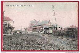 HOUDENG GOEGNIES. -  La Gare En Couleur - Vue Animée - M. Marcovici. - La Louviere