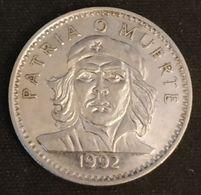 CUBA - 3 PESOS 1992 - KM 346a - Ernesto Che Guevara - ( Acier Plaqué Nickel ) - Cuba