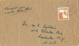 36854. Carta  Impresos JERUSALEM (Palestina) 1947 To USA - Palestine