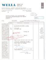 Factuur Facture - Haar En Schoonheidsprodukten Wella - Brussel - 1968 - Belgien