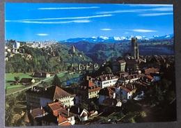 Freiburg Fribourg Vue Générale/ Berner Alpen - FR Fribourg