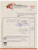 Factuur Facture - Reisbureau Flandria - Van Oostende - De Buck - Gent  1968 - Belgien