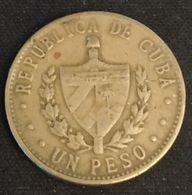 CUBA - 1 PESO 1987 - KM 105 - Cuba