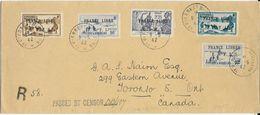 ST.P.ET MIQUELON FRANCE. LIBRE-A SAISIR!!!! ENVELOPPE RECOMMANDEE ST PIERRE ET MIQUELON 9-5-42 POUR CANADA -PAS OUVERTE - St.Pierre & Miquelon