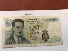Belgium 20 Francs Circulated Banknote 1964 - [ 2] 1831-... : Belgian Kingdom