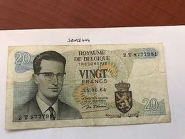 Belgium 20 Francs Circulated Banknote 1964 - Autres