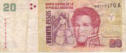 BILLETE DE ARGENTINA DE 20 PESOS CONVERTIBLES - JUAN MANUEL DE ROSAS (BANKNOTE) - Argentinien