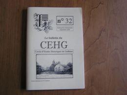 CEHG Revue N° 32 Gedinne Régionalisme Ardenne Wallon Semoy Guerre 14 18 Willerzie Débardage Cheval Abeilles Vencimont - Belgium