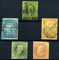México Nº 7, 20/21, 27, 30c.  Año 1861/67 - Mexique