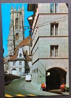 Freiburg Fribourg Cathédrale St. Nicolas/ Oldtimer Autos - FR Fribourg