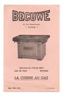 Buvard Becuwe Paris Réchaud Four 307 La Cuisine Au Gaz - Format : 13.5x21cm - Vloeipapier