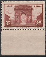 Timbre France Arc De Triomphe  De 1929 Yvert 258 Neuf ** Bdf Cote 95 € - Unused Stamps