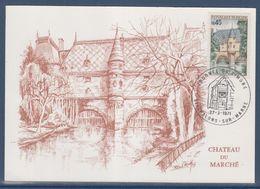 Cachet Journée Du Timbre 1971 Chalons Sur Marne 27.3.71 Château Du Marche Timbre 1602 - Cartes-Maximum