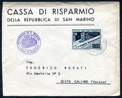 G10-81 SAN MARINO 1943 Lettera Affrancata Con  Propaganda Stampa 50 C., Ottime Condizioni - Saint-Marin
