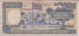 BILLETE DE URUGUAY DE 10000 PESOS DEL AÑO 1987 SERIE C (BANK NOTE) - Uruguay