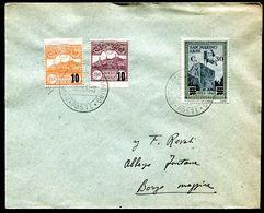G10-69 SAN MARINO 1943 Lettera Affrancata Con 3 Valori Sovrastampati, Annullo Di Arrivo, Ottime Condizioni - Brieven En Documenten