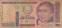 BILLETE DE PERU DE 1000000 DE INTIS DEL AÑO 1990 (BANKNOTE) UN MILLON - Peru
