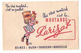 Buvard Une Vraie Moutarde C'est La Moutarde Parizot - Format : 13.5x21cm - Mostard