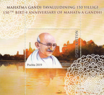 Uzbekistan 2019 150th Ann. Of Birth Of Indian Politician Mahatma Gandhi SS MNH - Mahatma Gandhi