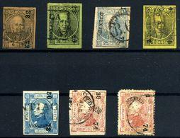 México Nº 43/6, 50/51.  Año 1868/72 - Mexique