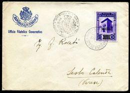 G10-94 SAN MARINO 1943 Lettera Affrancata Con Governo Provvisiorio 50 C., Ottime Condizioni - Saint-Marin