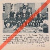 ONZE LIEVE VROUW TIELT - TIELT-WINGE - SINT JOZEF FANFARE    -  1938 - Tijdschriftafbeelding - Unclassified