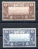 RC 17983 COTE DES SOMALIS COTE 6€ N° 167 / 168 VUE DE DJIBOUTI NEUF * TB - Neufs