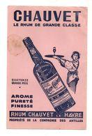 Buvard Chauvet Le Rhum De Grande Classe Le Havre- Format : 24.5x16cm - Carte Assorbenti