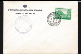 Greece Cover Athens 1964 Olympic Fire To Japan, Tokyo (G112-40) - Summer 1964: Tokyo