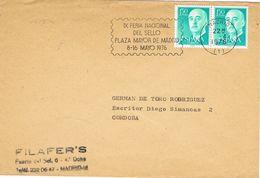 36859. Carta MADRID 1978. Rodillo Feria Del Sello, Plaza Mayor Madrid - 1931-Hoy: 2ª República - ... Juan Carlos I