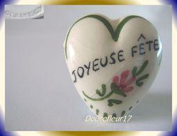 Clamecy ... Coeurs En Fête.. Joyeuse Fête, Grand Modèle Blanc-Vert ... Ref .AFF : 16-1994 - Oude