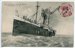 """CPA 1914 * Le """" MARTINIQUE """" De La Compagnie Générale Transatlantique * Avec Cachet """" Paquebot """" - Passagiersschepen"""