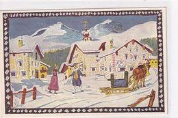 Wintertag Im Oberengadin - Sign. Giovanni Giacometti    (A-240-200627) - Altre Illustrazioni