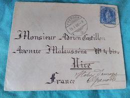 1906 - YVERDON  Vers GRENOBLE , Puis NICE - Voir Scans Du Verso - Cachets Bien Frappés - - Briefe U. Dokumente