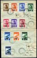 G10-95 SAN MARINO 1943 Tre Raccomandate Affrancate Con Governo Provvisorio, Ordinaria E Aerea, Serie Completa 17 Valori, - Brieven En Documenten