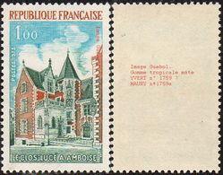 France Variété N° 1759 V ** Gomme Tropicale Mate. Site - Monument - Le Clos Lucé à Amboise - Varieteiten: 1970-79 Postfris