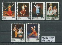 INDIEN MICHEL SATZ 646 - 651 Gestempelt Siehe Scan - Used Stamps